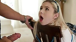Bearded Pervert Tied Up Poor Schoolgirl And Punished Her Pussy