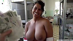 Veronika Cook with huge breasts and mega clit