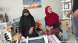 Elisa Tiger Chloe Lamour Muslim slut sucks and fucks for posters