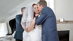 Shameless bride fucks her father in law just before wedding