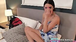 Delinquent Bro Gropes Nerdy Teen Step Sister Kylie Rocket