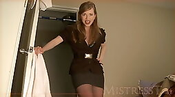 Forced to Jerk Off to Mom Mistress T