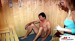 In der Sauna gefickt
