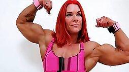 FBB flexing massive muscles