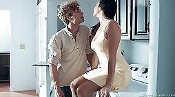Alluring hottie Karlee Grey caught sisters boyfriend sniffing her underwear