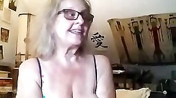 Slutty grandma is being fucked this live webcam show