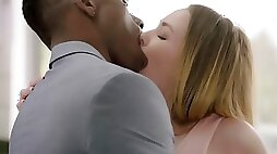 Adorable white lady was never intimate with a black cock this massive