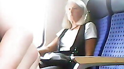 Exhibitionist in the train
