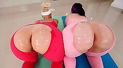 Two awesome sporty chicks Virgo Peridot and Alexis Andrews share a big dick