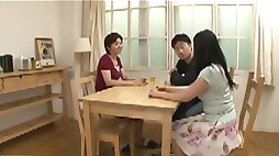 Young wife and a mother in law scene