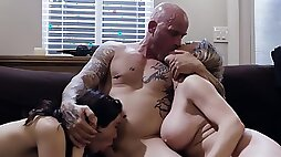 Erotic fucking at home with wife Dee Williams and lover Jane Wilde