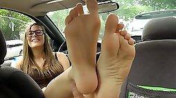 Foot Fetish Girls Get Cum On Their Foot