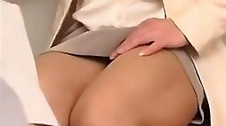 Hot Russian milf sucks and fucks a guy in an office