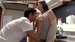 Young boy is in love with mature japanese school girl