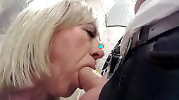 Trans Girl gets Face Fucked in the Club Toilets