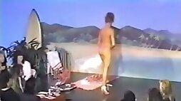 The hot classic girls on the retro bikini contest topless