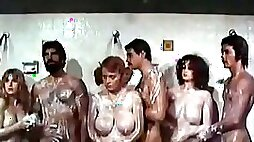 Cheerleader coach punishes her students in the shower