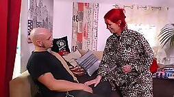 Red haired slut with body Anica Red goes wild on a hard dick