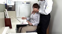 Ruri Jouta naughty Asian office lady gives amateur blowjob