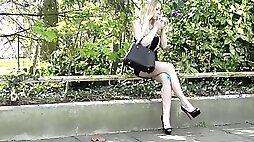 Angie lee street prostitute in lycra miniskirt high heels
