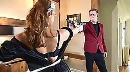 The French Secret Service has sent in their most seasoned spy Liza Del Sierra posing as a maid to infiltrate Danny mansion