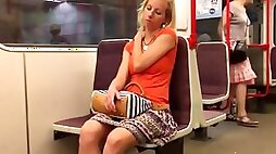 Spying on hot czech girl on the train