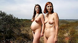 Natural nude beauty of pregnant women