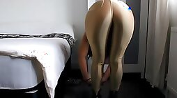 Shiny spandex