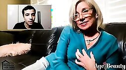 Step GILF Rubs one Out on Call with Ricky Spanish