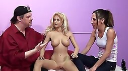 Naughty hottie and a horny stud in nasty sex doll and fetish action