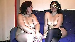 Primas and her horny friend want to play on camera with an erected prick
