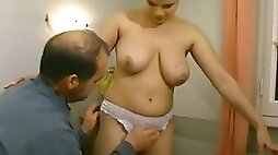 Retro sex with busty wife