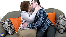 Sex lessons for couple from granny