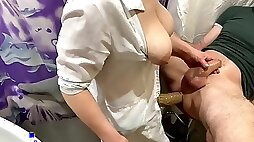 Pegging Amateur with Russian nurse